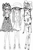 three illustration sisters friends group
