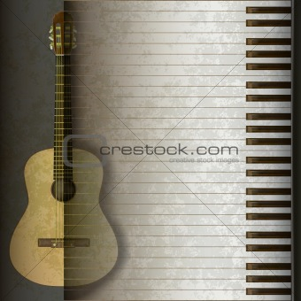 grunge background acoustic guitar and piano