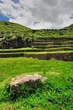 Teracces in ancient city in Peru