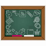 Web blackboard frame