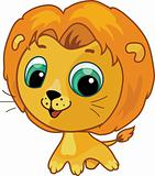 Cute lion vector cartoon  illustration