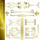 Gold design elements set