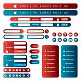 Web site template set