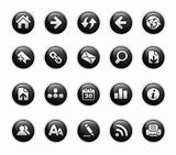 Web Navigation Icons // Black Label Series