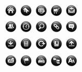 Web Site & Internet Icons // Black Label Series