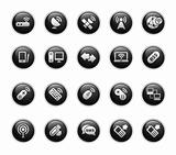 Wireless &amp; Communications Icons // Black Label Series