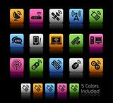 Wireless &amp; Communications Icons // Colorbox Series