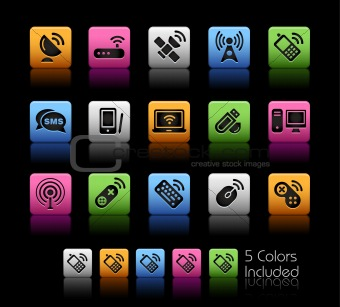 Wireless & Communications Icons // Colorbox Series