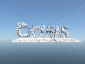 Word Crisis as an Iceberg Concept