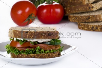 Bacon and vegetable sandwich