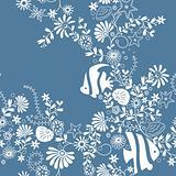 Seamless Marine Floral Pattern