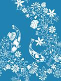 Seamless Marine Floral Pattern