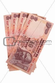 Four ten rupee notes