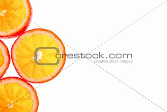 sliced orange background