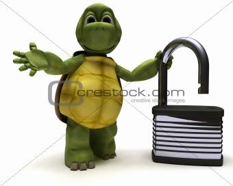 Tortoise with padlock