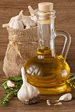 Garlic and olive oil.