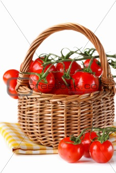 Basket of tomatoes.