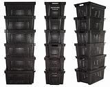 Plastic crates   Isolated