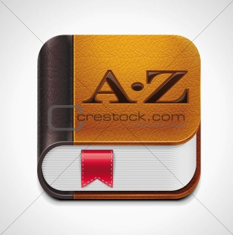 Vector book with bookmark XXL icon