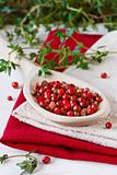 Pink peppercorns.