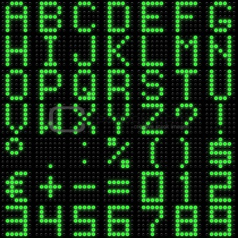 3D dot-matrix font with reflection