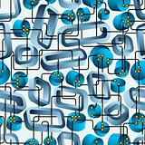 Techno seamless pattern.