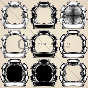 Vector emblems.