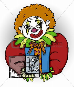 Clown with poison gift