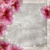 Flowers grunge background 