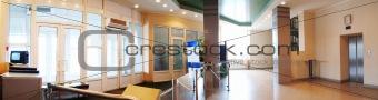 Tourniquet in hall | Panorama