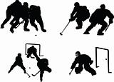 hockey silhouette collection