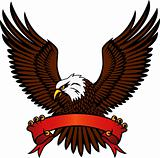 Eagle with emblem