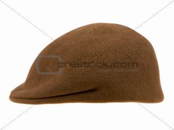 green felt man's cap