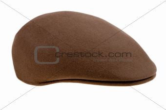 brown felt  cap