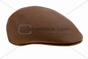 brown felt  cap
