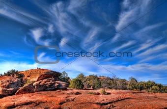 Top of a desert mountain