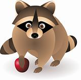 Raccoon cartoon