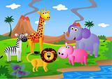 Safari cartoon