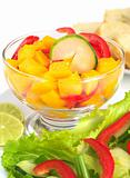 Mango, Bell Pepper and Cucumber