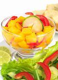 Mango, Bell Pepper and Cucumber