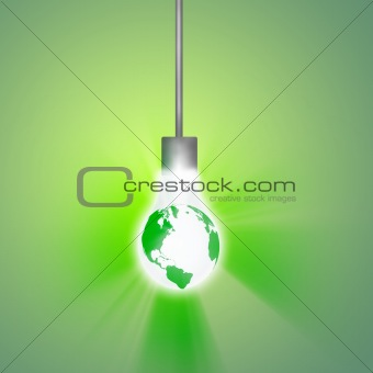 Hanging Earth Bulb