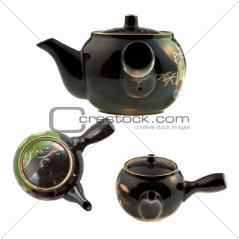 black Chinese teapot
