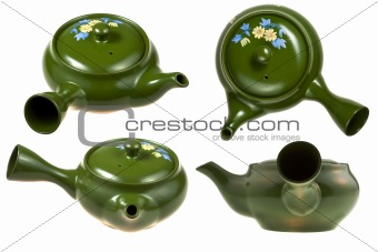 green ceramic teaport