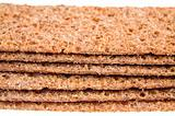 thin crispbreads close up