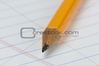 A yellow pencil