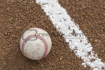 An old worn baseball