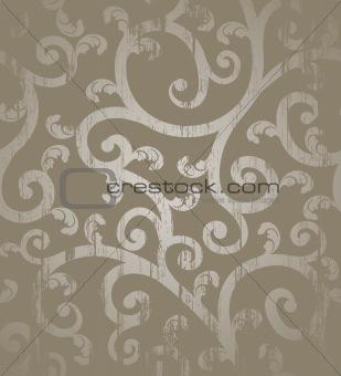 Grunge floral seamless background