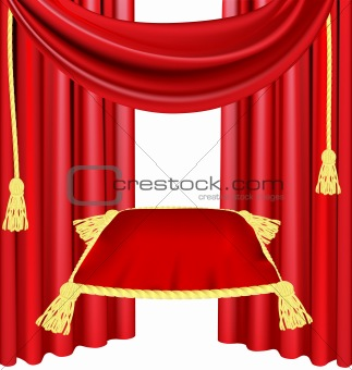 red ceremonial pillow