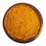 Curry powder on bowl
