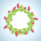 Wreath of red berries